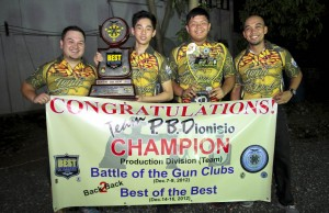 Team P.B.Dionisio wins Best of the Best and the Battle of the Gun Clubs for 2012